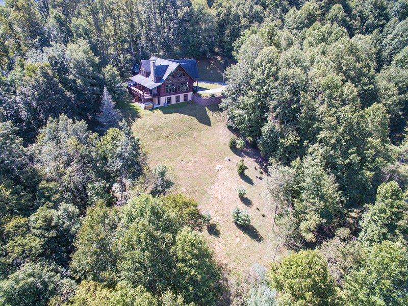 Vista aérea de Seaforth mirando hacia la casa