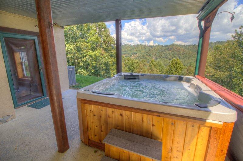 Bañera de hidromasaje Seaforth con vistas