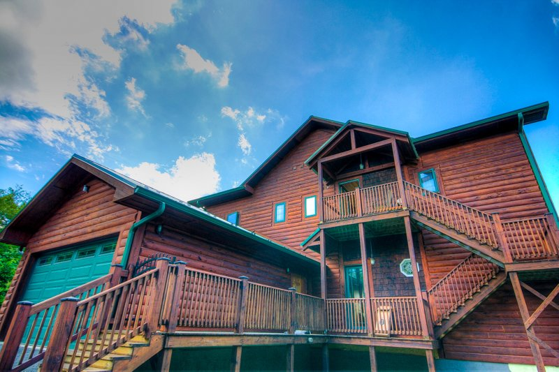 Top Lodge de montaña Vista de la casa del lado ascendente