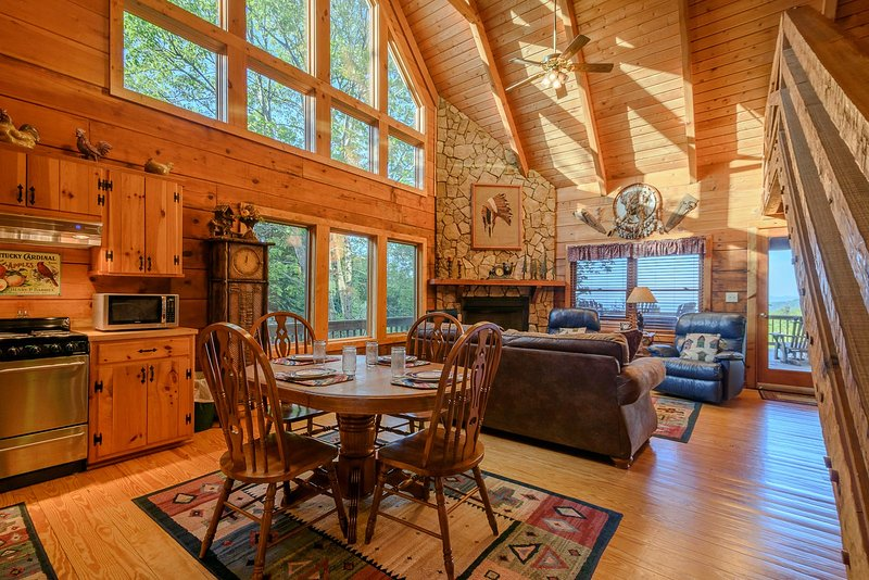 Whispering Pines Open Living / Dining Space