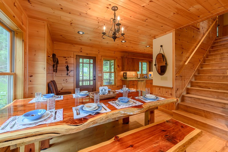 Fun, Authentic Log Dining Table