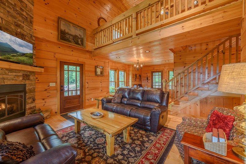 Loft Overlooks Main Living Room