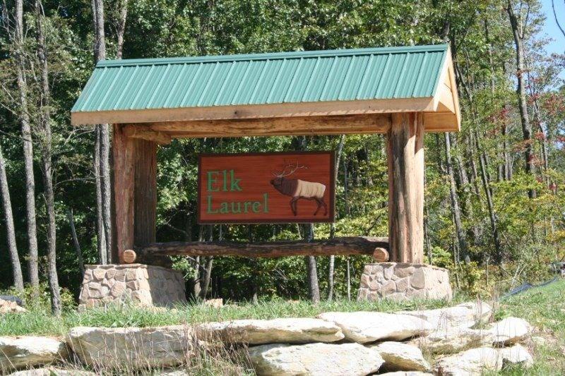 Elk Laurel Sign Entrance