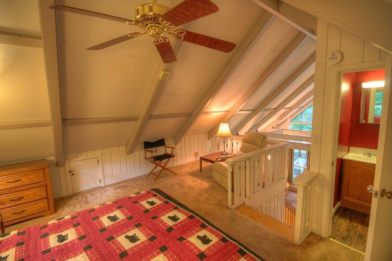 Benzine Farm King Bed in Loft with Half Bath