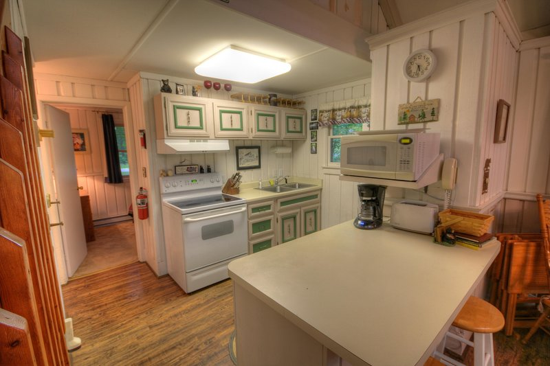 Benzine Farm Kitchen is Open to Living and Dining