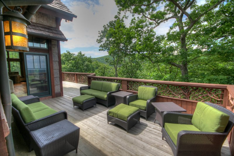 Adirondack Comfortable Outdoor Seating Outside Main Living Area