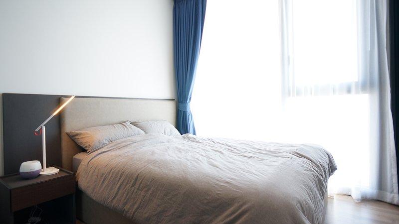Regina letti con materasso Sealy, cuscino e Muji fodera in cotone organico