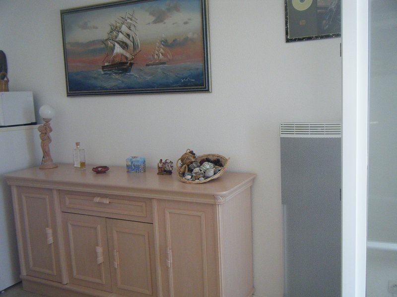 The sideboard with dishes