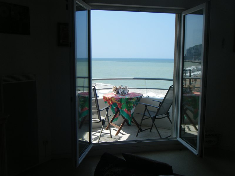 View of the apartment: the beach.