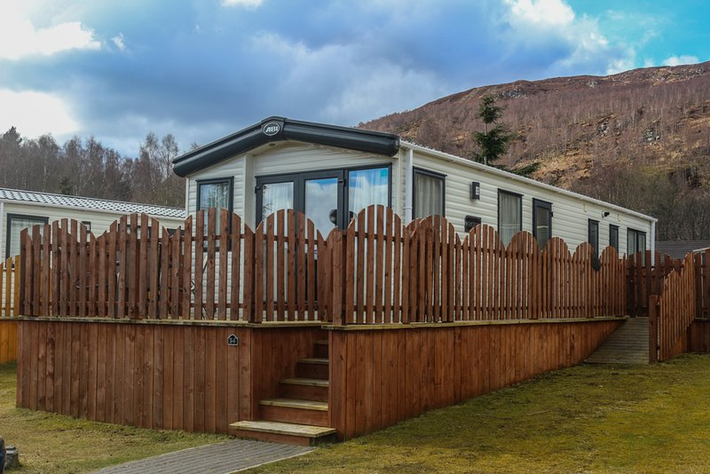 Holiday Chalet to rent, Aviemore Holiday Park, holiday rental in Badenoch and Strathspey