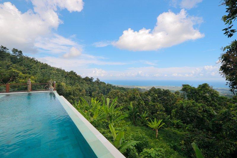 exuberante vegetación, bosques tropicales y una vista increíble del océano Índico