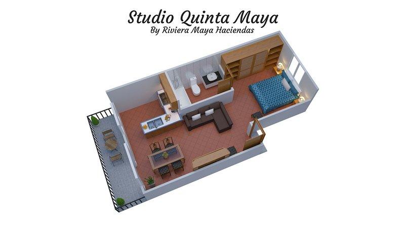 Riviera Maya Haciendas, Quinta Maya - Piano 3D