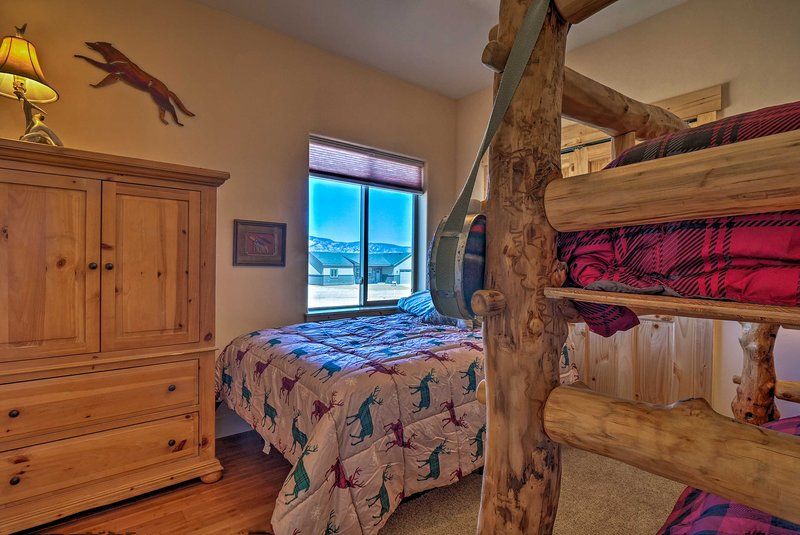 The home has 3 bedrooms with queen beds.