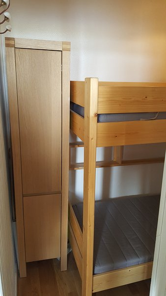 Cabin with bunk bed and storage