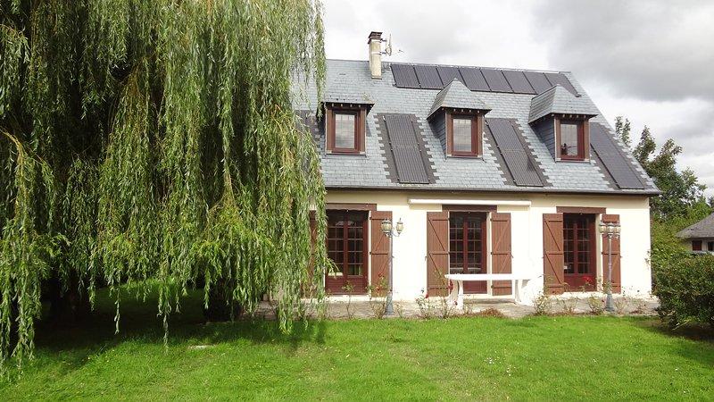 La casa con vista a la terraza.