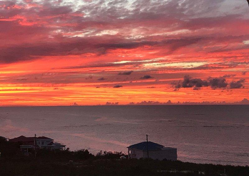 Sonnenuntergang von der Wohnung