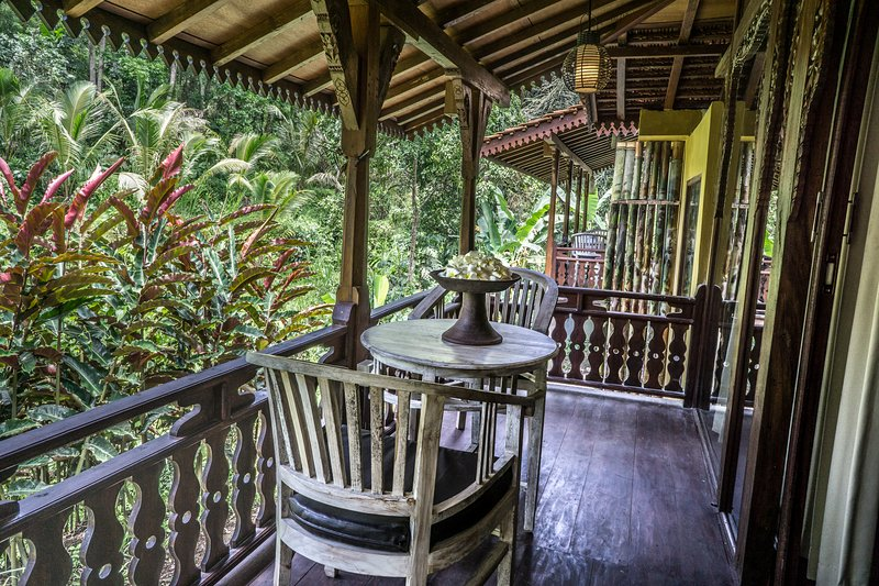 Woonden Villa in the Jungle at DD Ubud Jungle Villa, holiday rental in Bresela