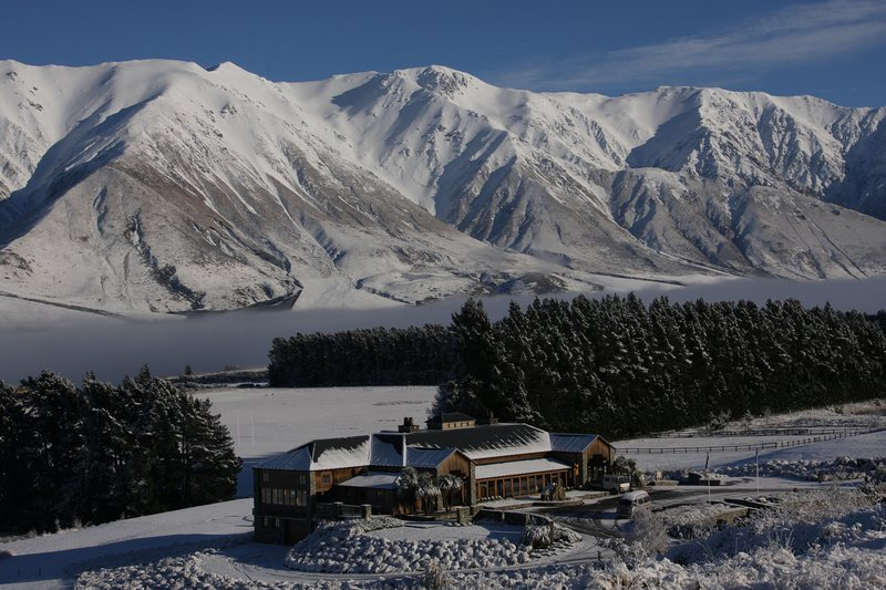 Our neighbours on a wintery day - Terrace Downs High Country Resort have many activities available.