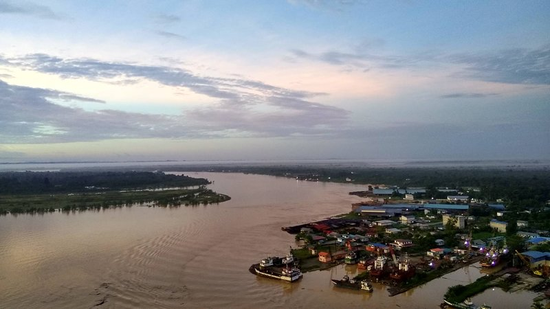 Rejang River view from roof top Level 26