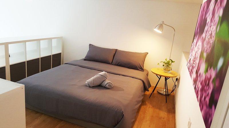 cozy loft bedroom