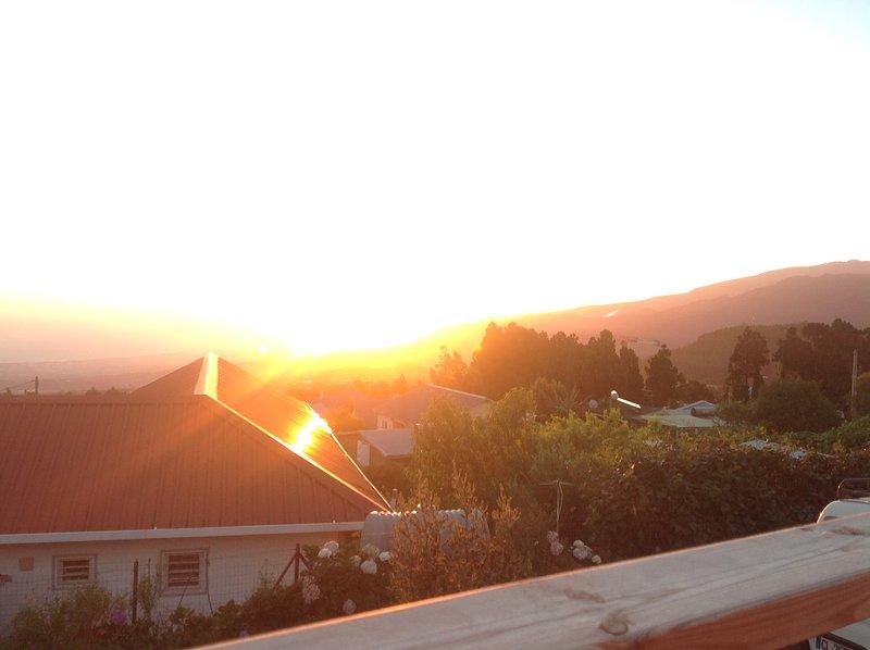 Sunset on the Dimitil and Piton des Neiges range