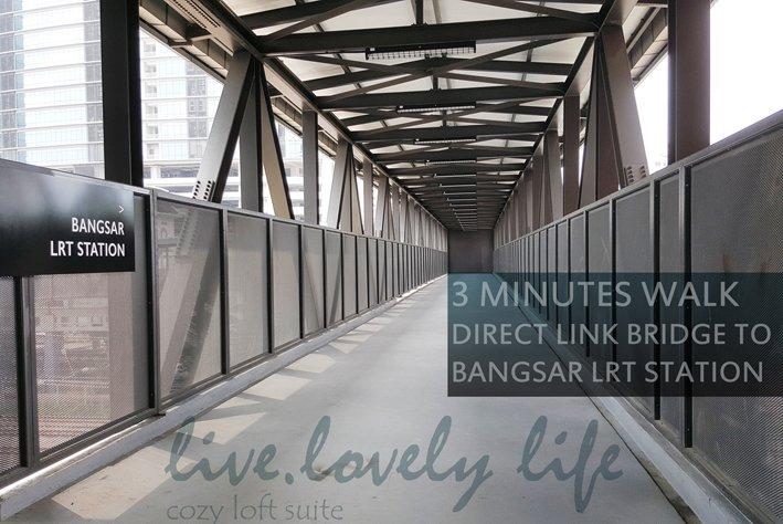 Direct overdekte koppeling brug naar Bangsar LRT station