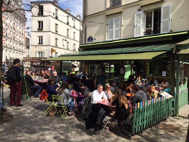 terrace in Montmartre