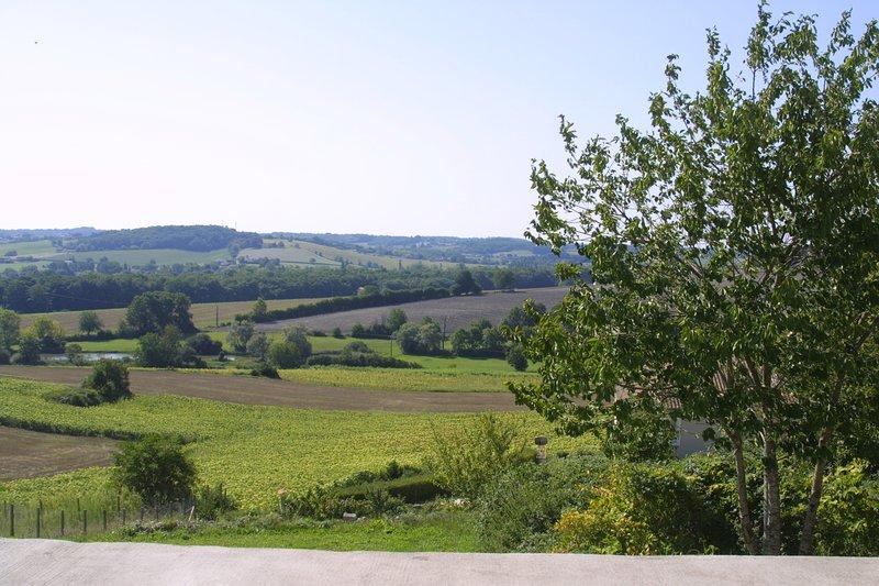 Ancienne grange rénovée avec vue exceptionnelle sur la campagne charentaise, holiday rental in Montmoreau-Saint-Cybard