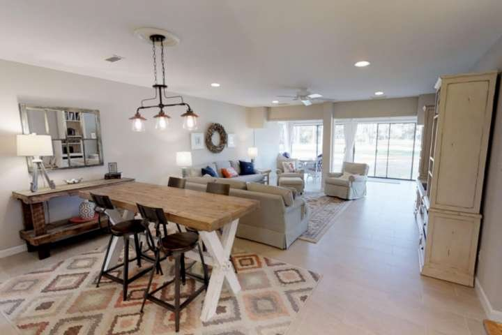 Coastal and Casual living and dining area - views onto the Harbourtown Golf Course