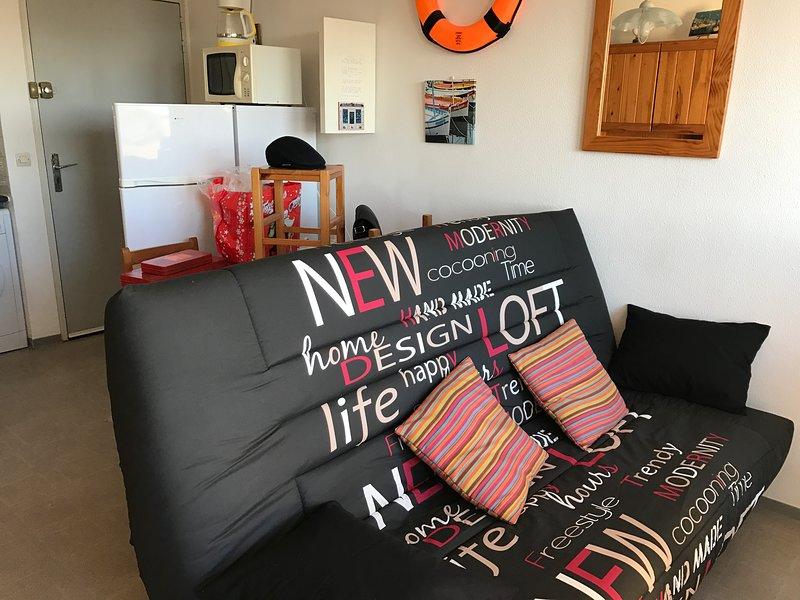 Canapé lit neuf en 140