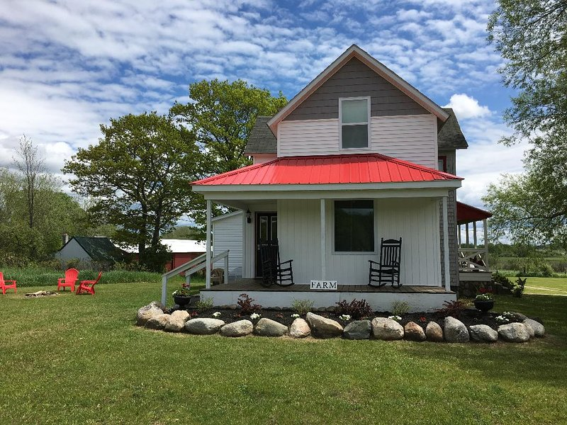 Beautiful Farmhouse in Northern Michigan near Mack, holiday rental in Topinabee