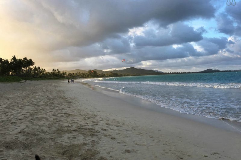 Kailua beach is just a short walk of 5 to 10 minutes away