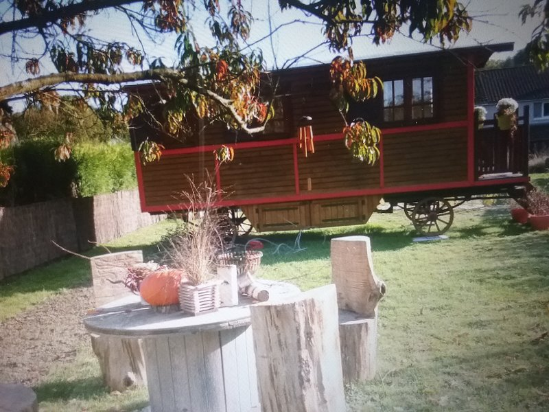 The trailer Nanou for 2 people in Fernelmont, Belgium Wallonia.