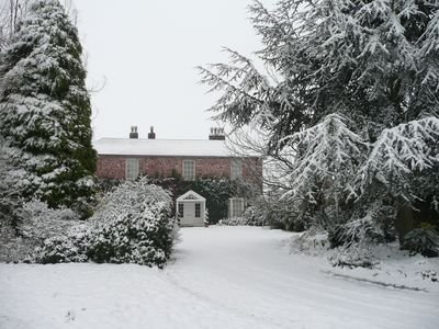 The Old Rectory in the snow