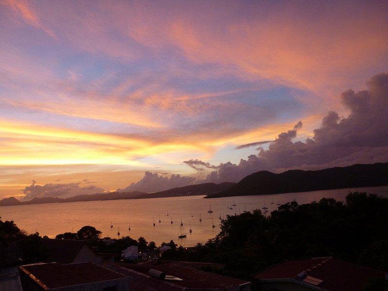Bel tramonto dalla terrazza
