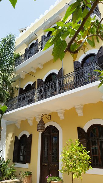 House front with balconies