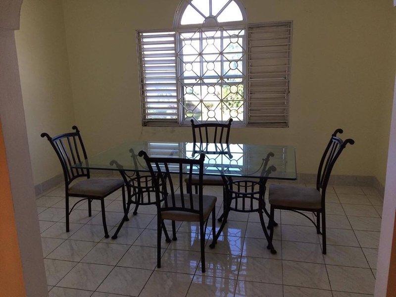 Upstairs dining nook