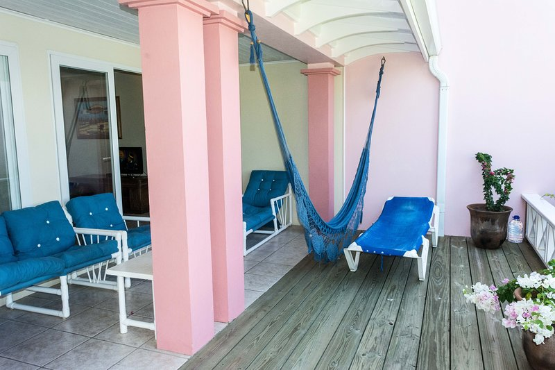 Patio deck area for private sun bathing