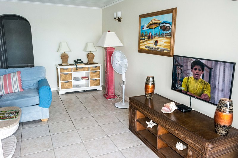 Lounge with 40' smart TV with cable TV + dedicated Netflix a/c.