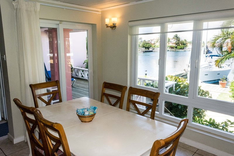 Dining area with full sea view.
