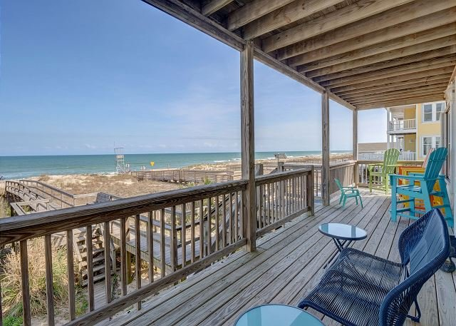 Dolphin View Oceanfront Deck
