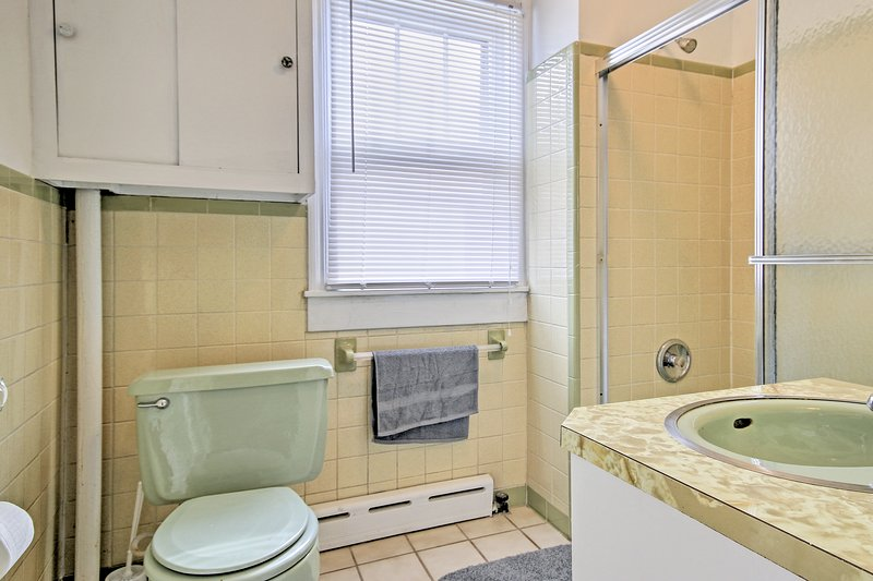 Two bathrooms make getting ready in the morning a breeze.