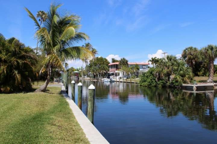 The view down the Gulf access canal at Tarpon Camp is picture perfect, and just 3 minutes to the open water. Close your eyes and picture yourself ther