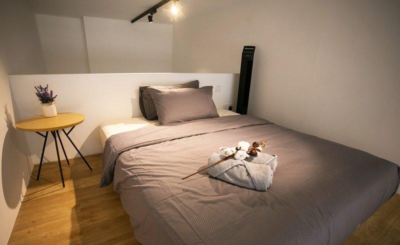 Gezellige slaapkamer op de vliering