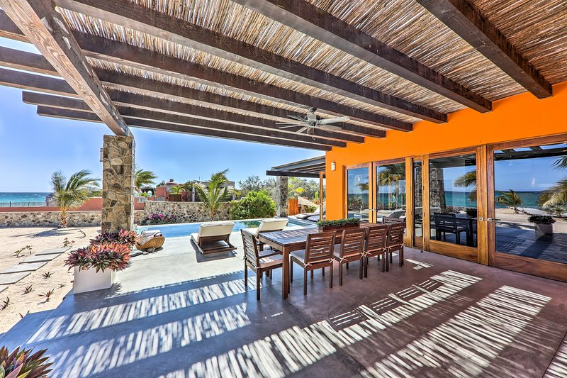 This 3BR villa for 9 is a true tropical oasis with its prime outdoor amenities.
