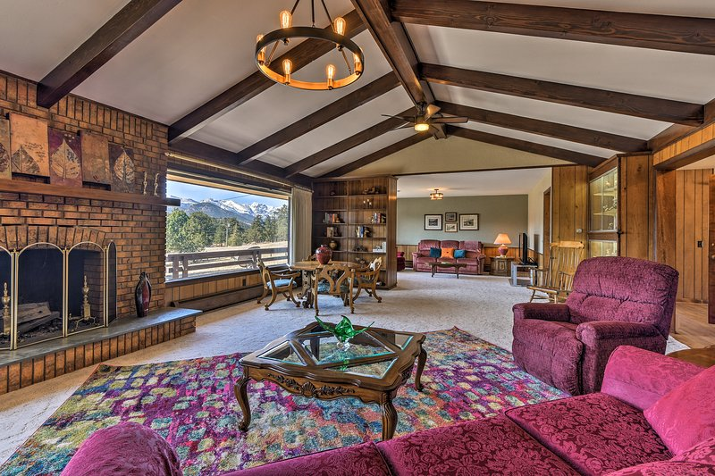 You have mountain views from every room in this Estes Park vacation rental home.