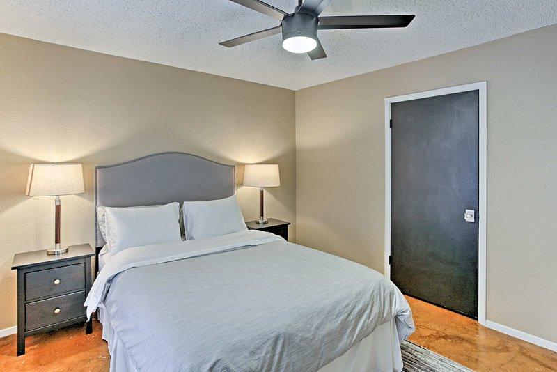 Turn the ceiling fan on for a gentle breeze.