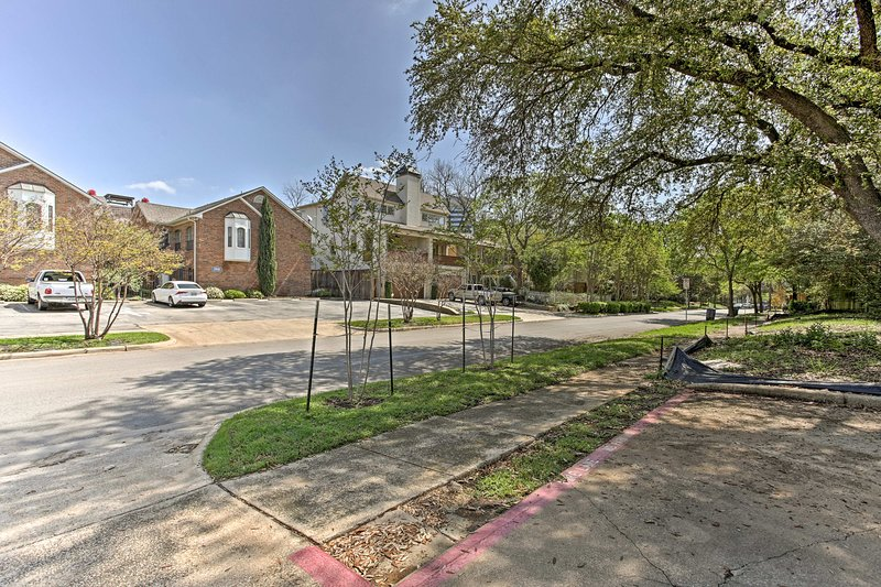 Cruise through the charming streets of Oak Lawn to find this condo.