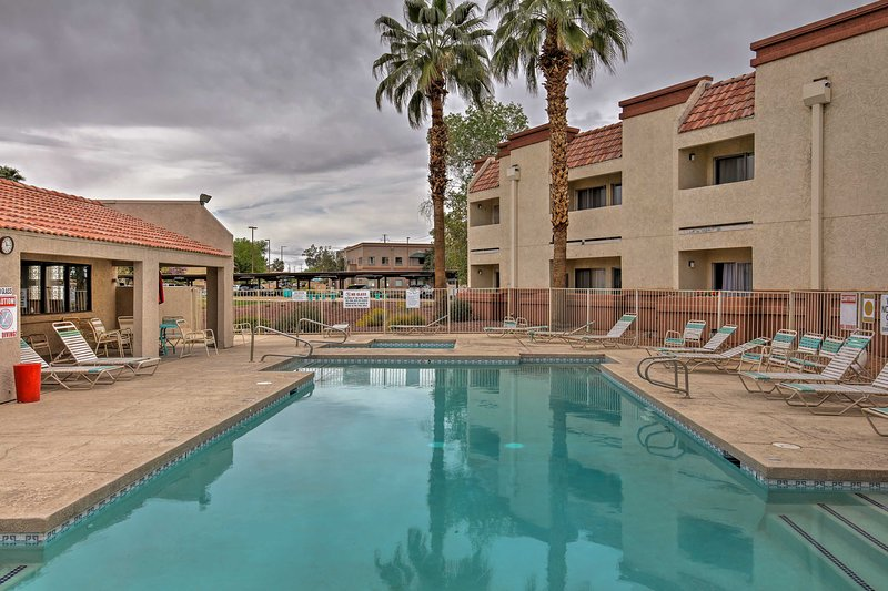 Enjoy the shared heated pool while staying at this vacation rental condo!