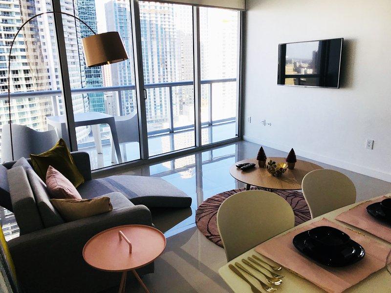 Lägenhet med utsikt över bukten